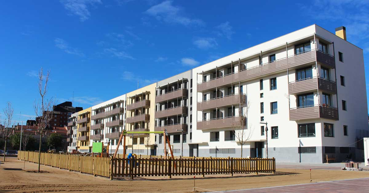 Enclosures in the residential development at Badalona