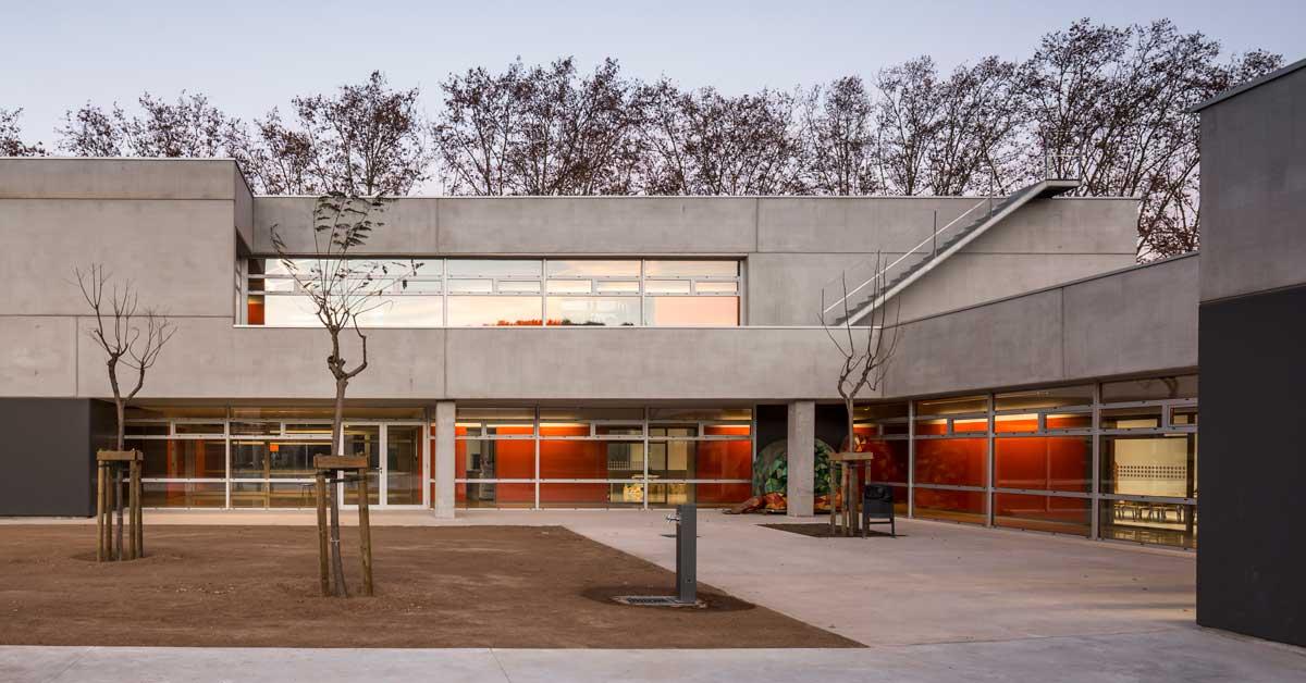 Cerramientos del nuevo centro escolar de Lliçà de Vall