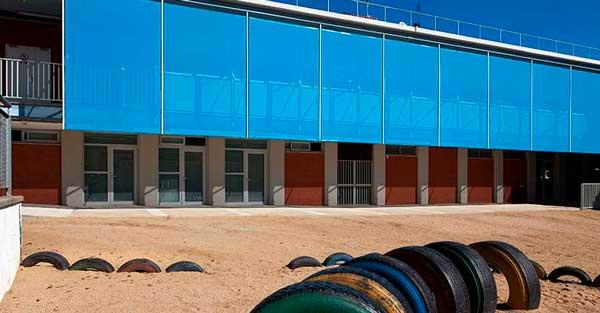 Fusteria D'alumini En 2a Fase De Construcció D'escola A Llinars Del Vallès