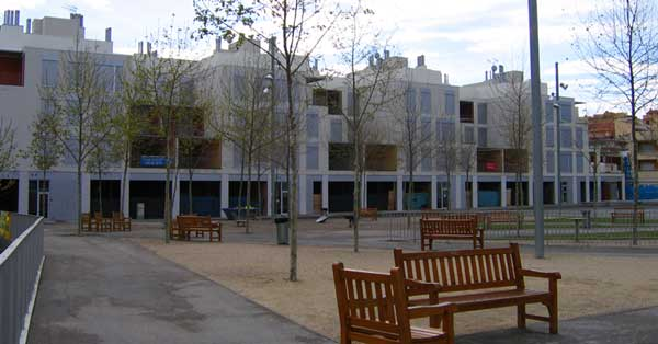 Aluminium joinery works in a public housing development