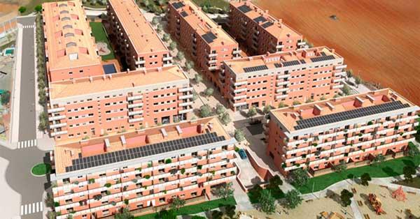 Treballs De Fusteria D'alumini En Conjunt Residencial De 8 Blocs D'habitatges