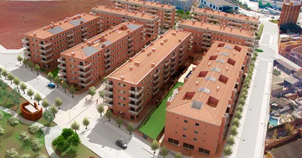 Aluminium joinery works in residential complex comprising 8 blocks of apartments
