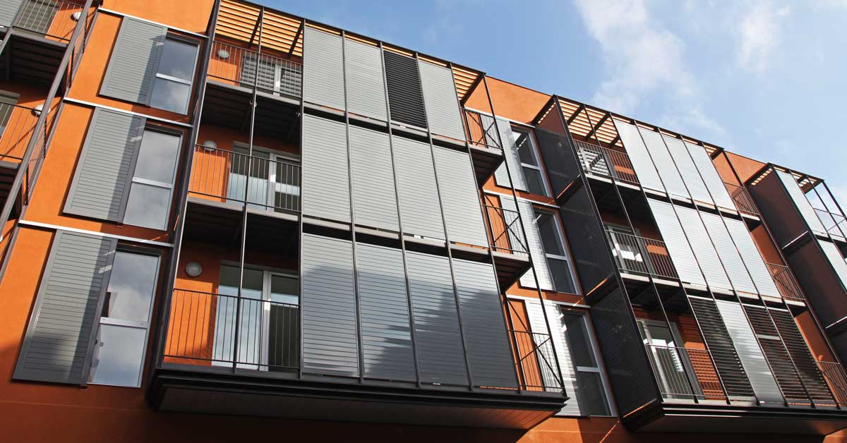 Aluminium and glazed enclosures for 39 residences