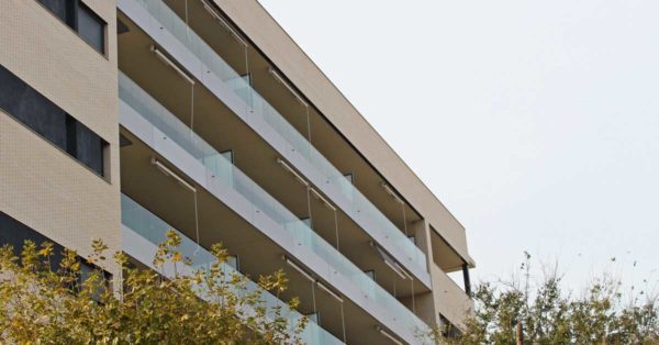 Aluminium And Glazed Enclosures For The Residential Development In L'Hospitalet De Llobregat.