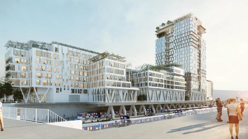 Travaux Pour Nouveau Bâtiment à Nanterre, France