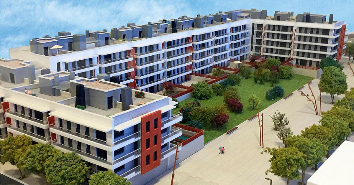 Cerramientos de aluminio y vidrio para conjunto residencial en Badalona
