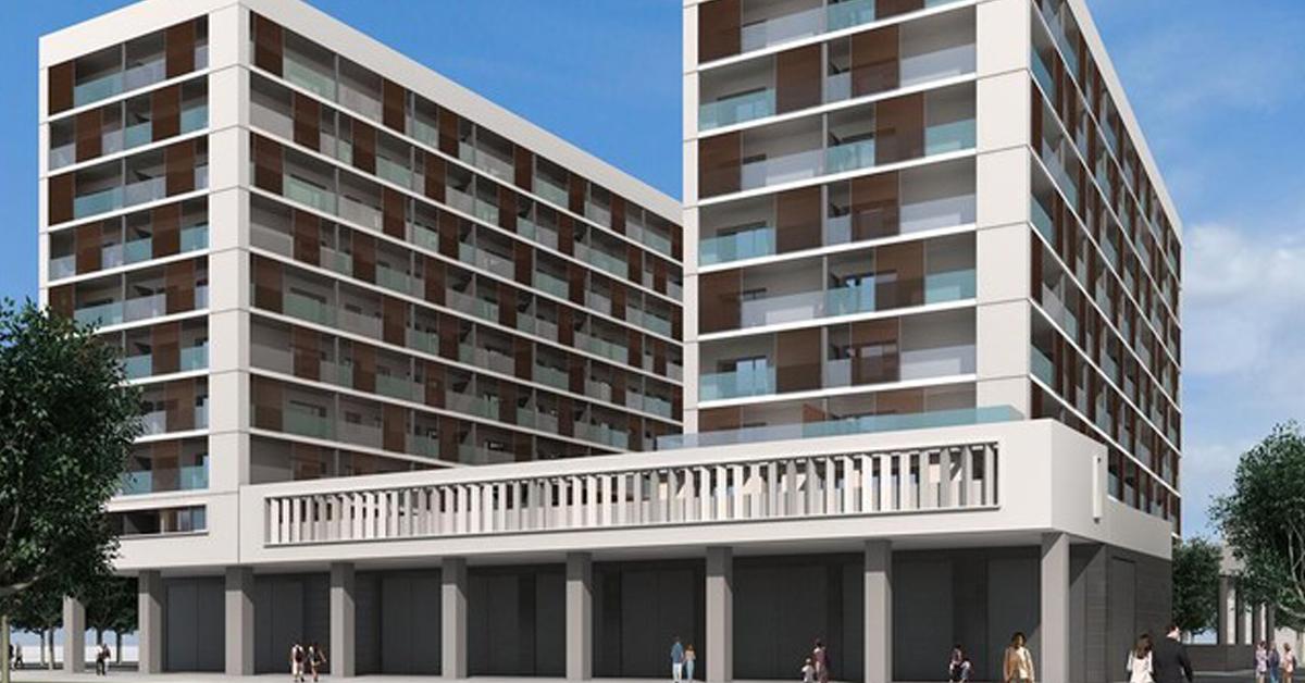 Architecture en aluminium pour résidentiel promotion à Badalona
