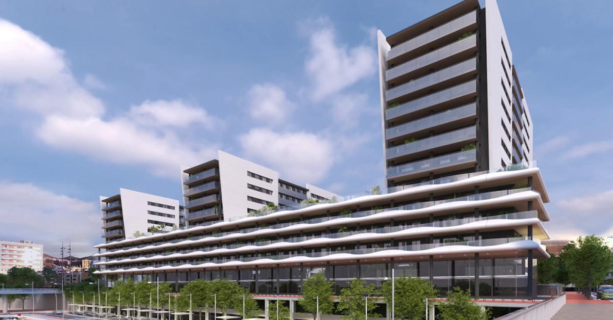 Cerramientos de aluminio y vidrio para 252 viviendas en el Puerto de Badalona