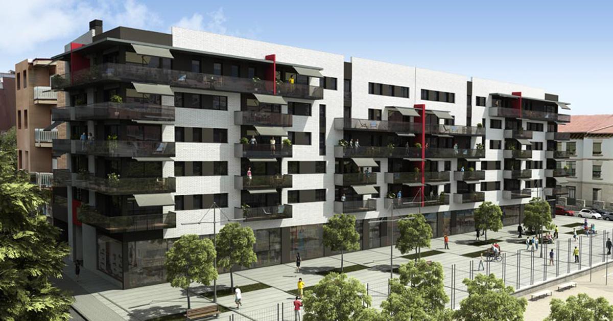 Cerramientos de aluminio y vidrio para promoción residencial en el centro de Badalona