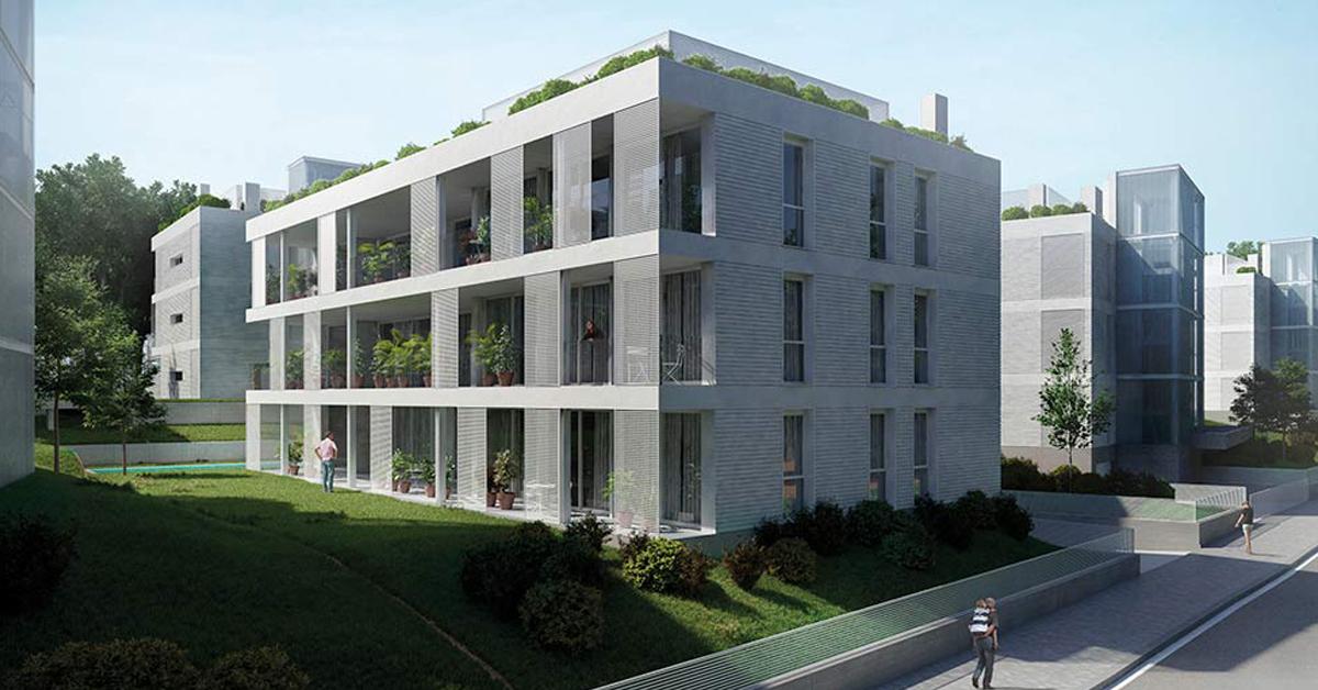Tancaments d'alumini per a conjunt d'habitatges exclusius en el nou sector residencial de Sant Cugat del Vallès