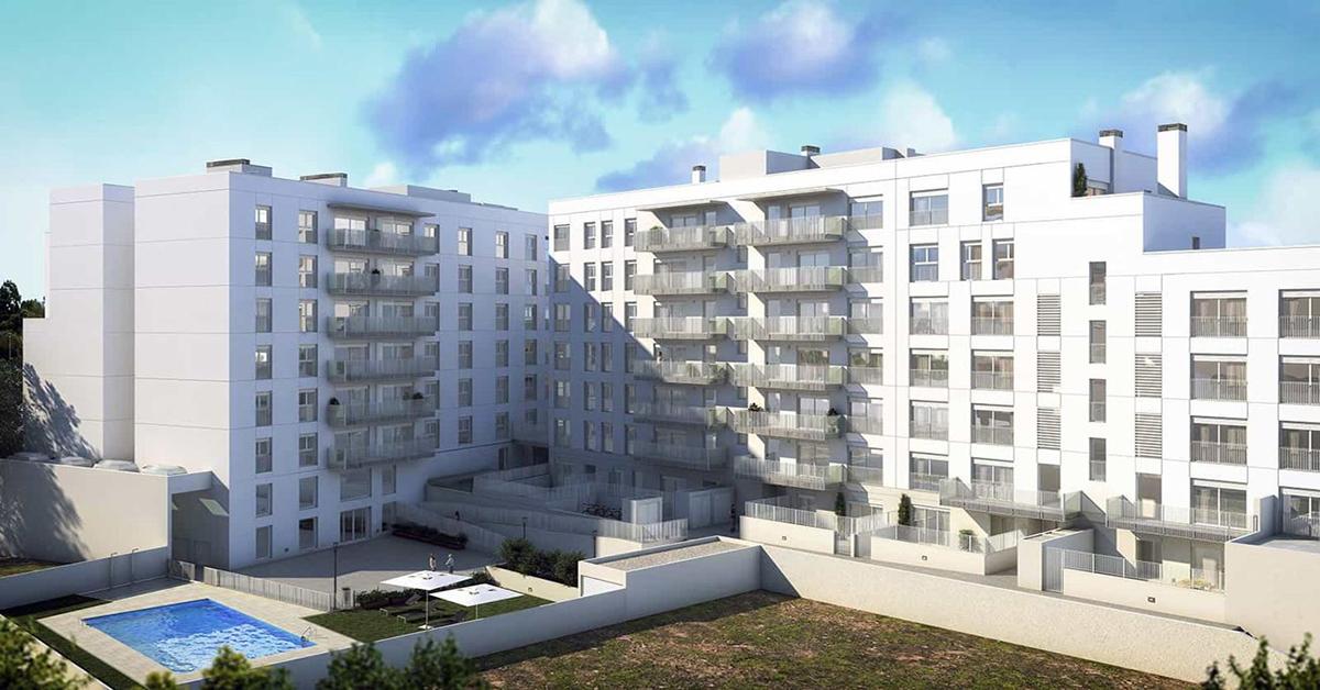 Cerramientos y acabados de fachada en nueva promoción de 73 viviendas en Sabadell
